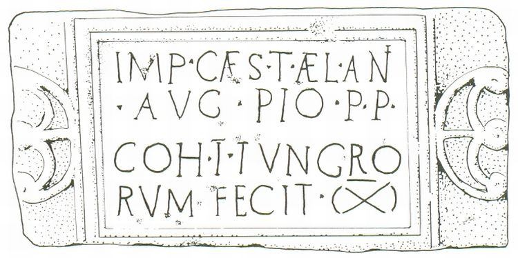 Antonine Wall Inscription - COH 1 Tungrorum